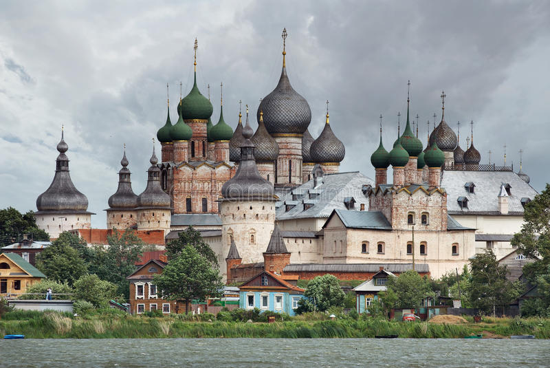 Russia. Town of Rostov the Great. Rostov Kremlin royalty free stock images