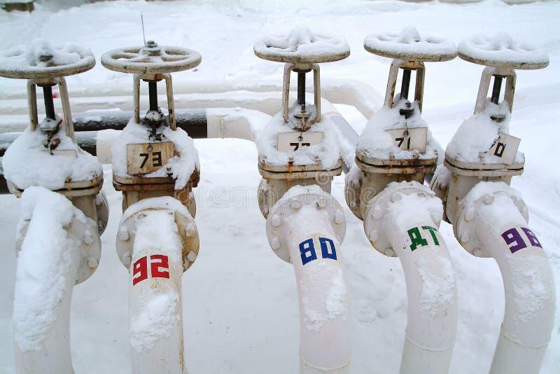 Russia.Treminal per la spedizione di benzina fotografia stock