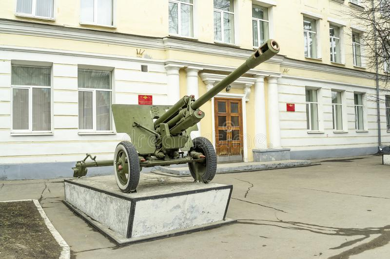 City Tver. Kalinin Suvorov Military School. RUSSIA, TVER - April 04,2014: Federal state educational institution `Tver Suvorov Military School of the Ministry of royalty free stock photos