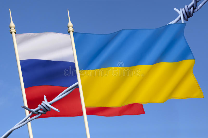 Russia and Ukraine Conflict royalty free stock image