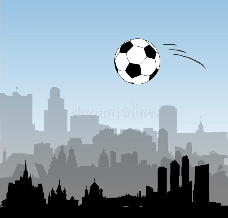 Download Russia Vector Skylines With Football Ball Stock Vector - Illustration of moscow, capacity: 118245087