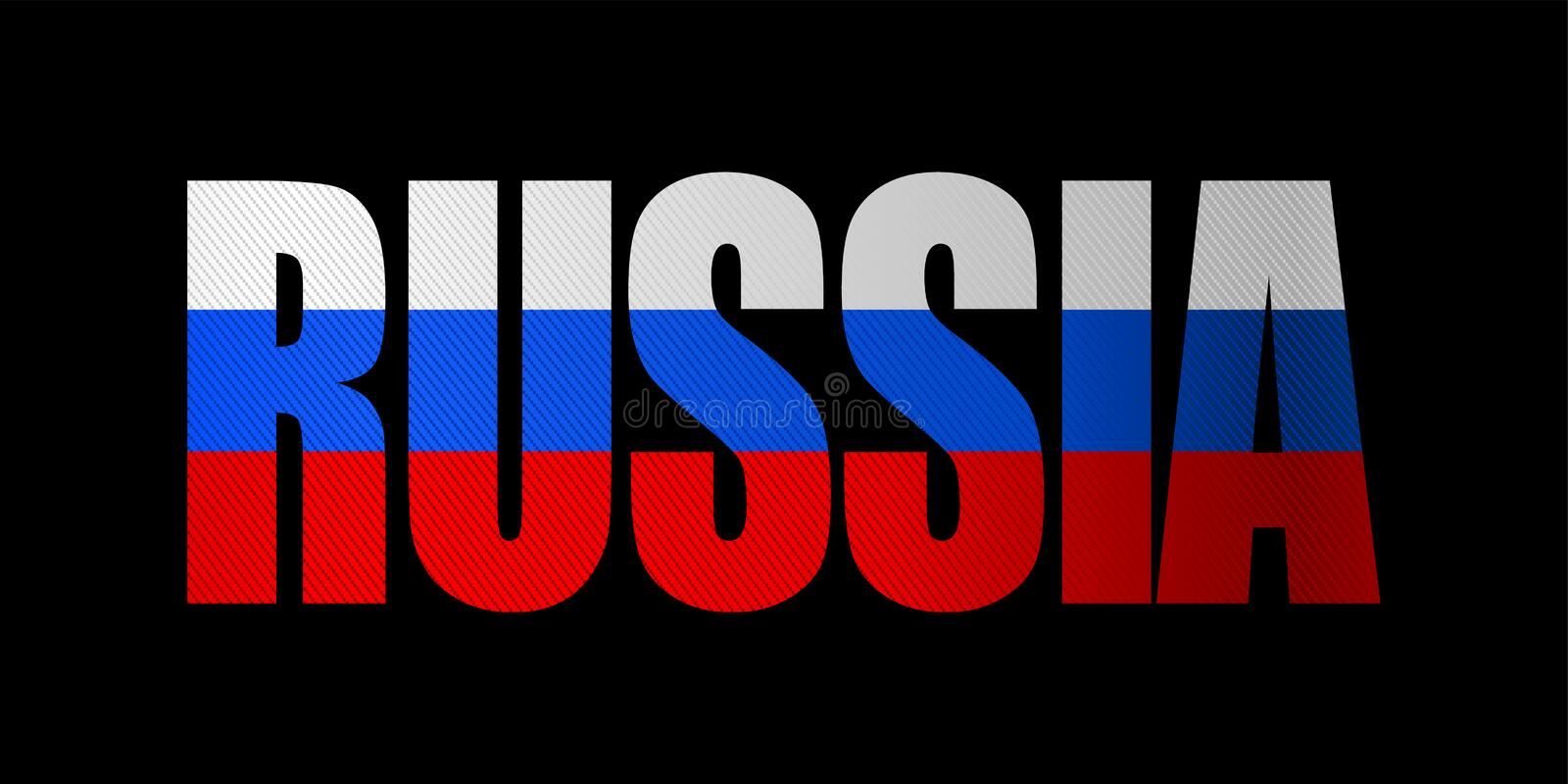 Russia, the word vector illustration