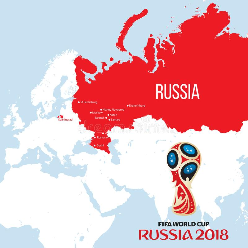 Russia world cup 2018 royalty free illustration