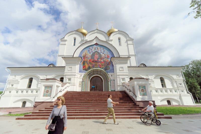 russia yaroslavl - Czerwiec 3 2016 1507 1533 przypuszczenie budujących katedralnych rok zdjęcie stock
