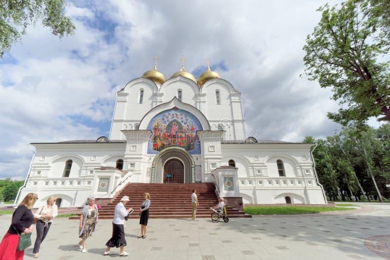 russia yaroslavl - Czerwiec 3 2016 1507 1533 przypuszczenie budujących katedralnych rok zdjęcie royalty free