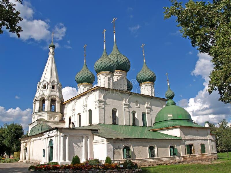 russia yaroslavl Kościół transfiguracja na mieście w słonecznym dniu obrazy stock
