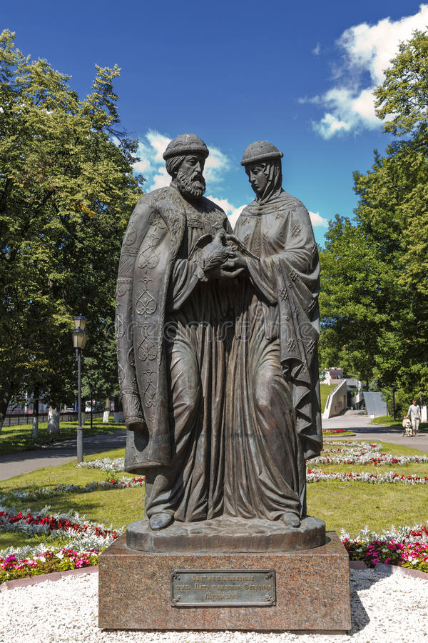 Download Russia. Yaroslavl. Monument To Peter And Fevronia Of Murom Stock Photo - Image: 83711910