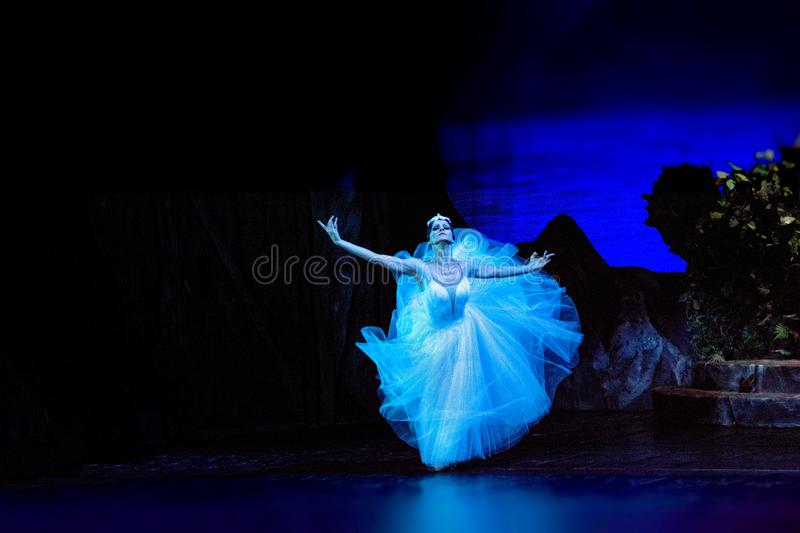 Russian actors and actresses on the big opera stage stock photography
