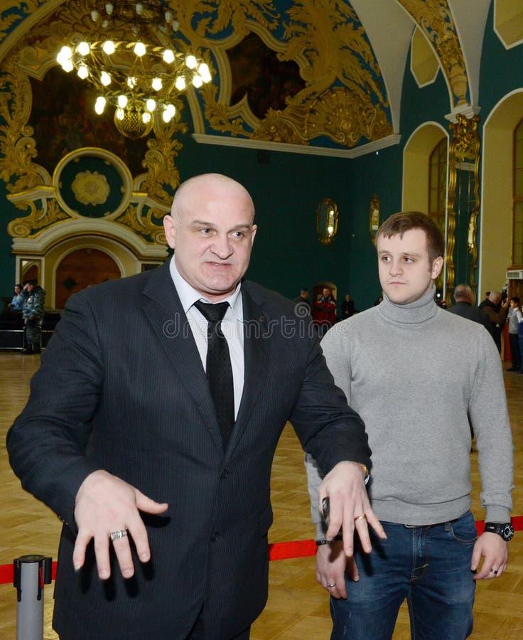 Russian actors Alexey and Igor Ogurtsova. royalty free stock photo