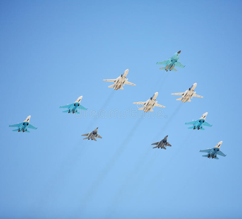 Russian Air Force Fighters Royalty Free Stock Image
