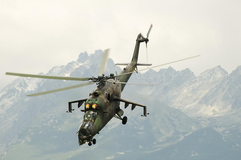 Russian Air Force Mi-24 royalty free stock photos