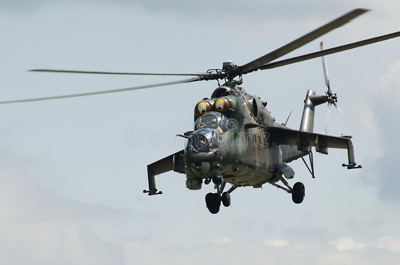 Russian Air Force Mi-24 stock photography