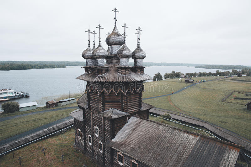 Russian ancient church stock image