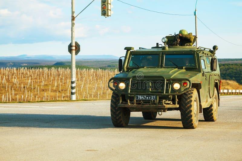 Russian armoured truck in Crimea, Ukraine