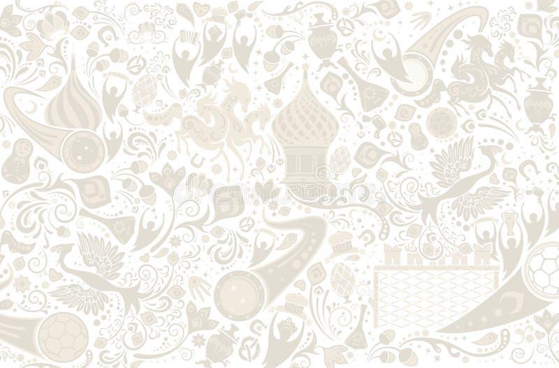 Russian background, vector illustration royalty free illustration