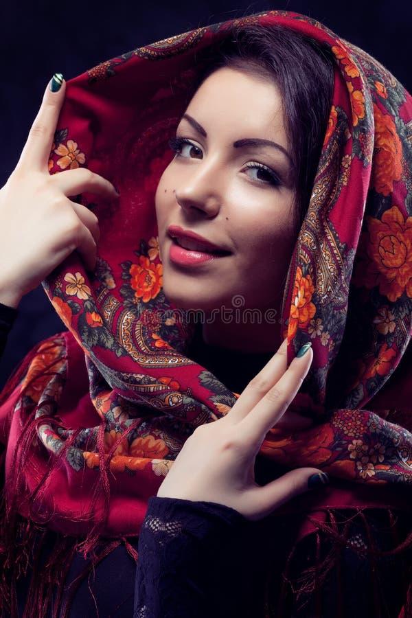 Download Russian beauty stock image. Image of headscarf, idyllic - 25679047
