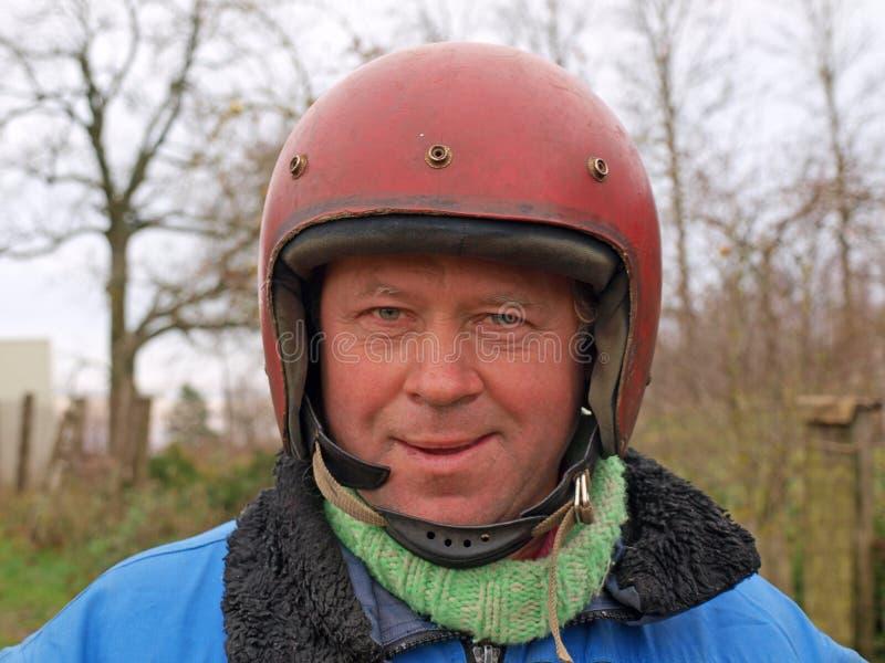 Russian Biker Royalty Free Stock Photography
