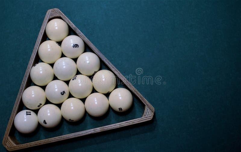 Russian billiard balls triangle stock image