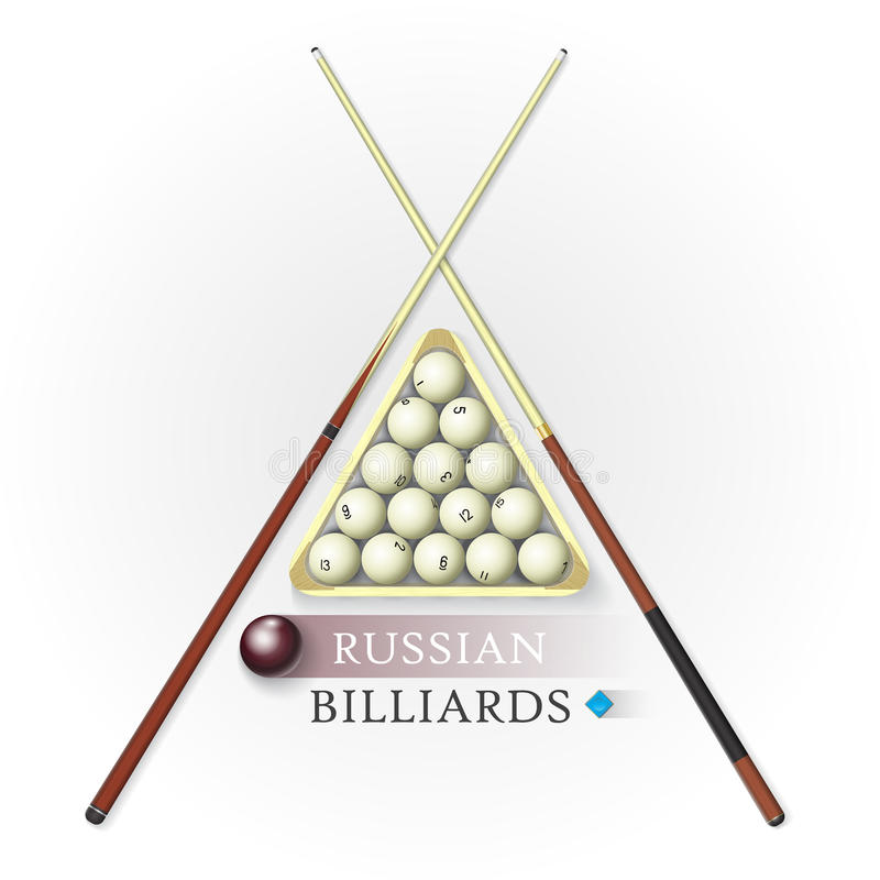 Russian billiards background vector illustration