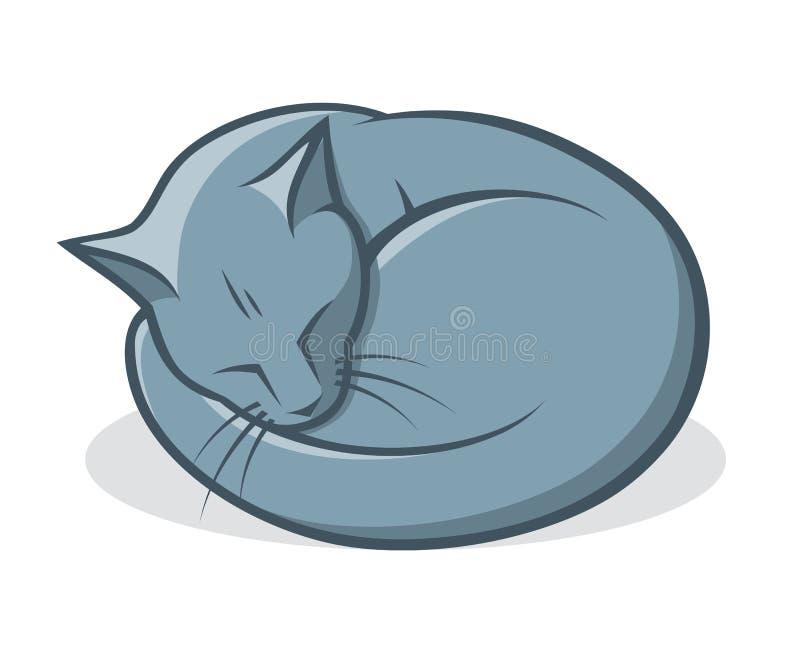 Download Russian blue cat stock vector. Image of laze, cartoon - 29491629