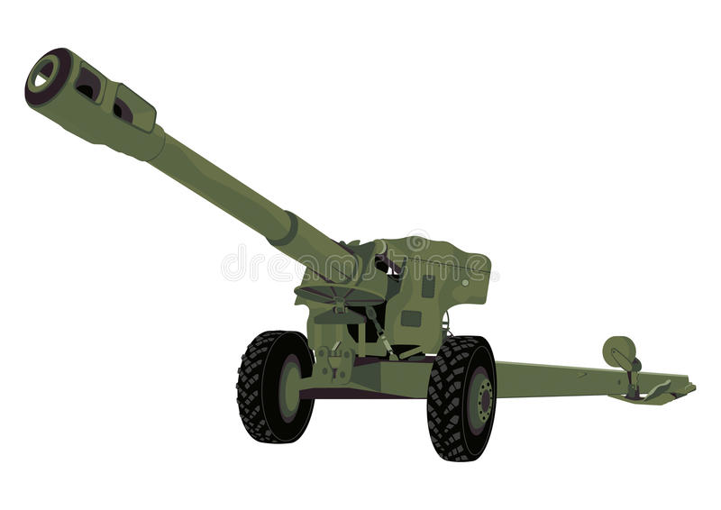 Russian cannon stock image