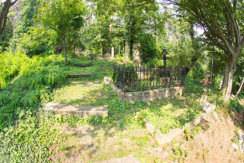 Russian cemetery in Shipka stock image