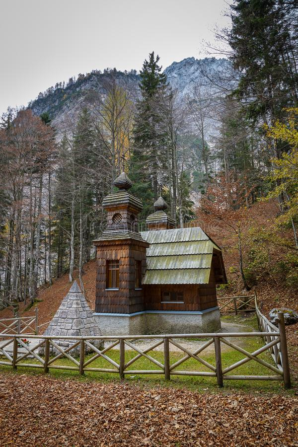 Free Russian Chapel, Wooden Building In Slovenian Alps Royalty Free Stock Images - 168359659