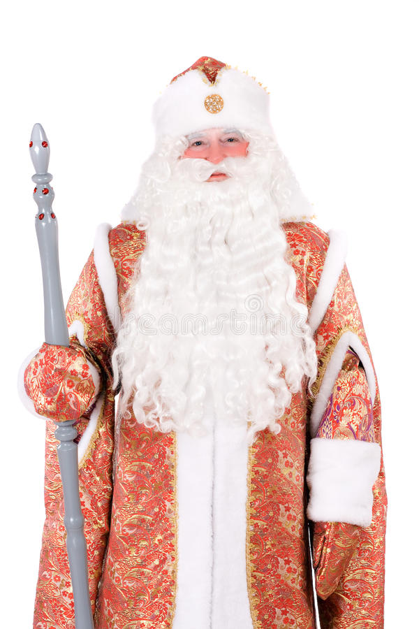 Russian Christmas Character Ded Moroz Stock Images