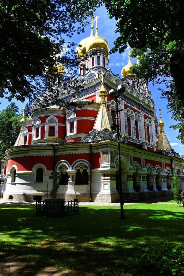 The Russian church - monument at Shipka. royalty free stock photos