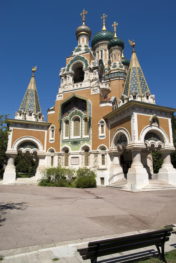 Download Russian Church in Nice stock image. Image of aged, azur - 26156197