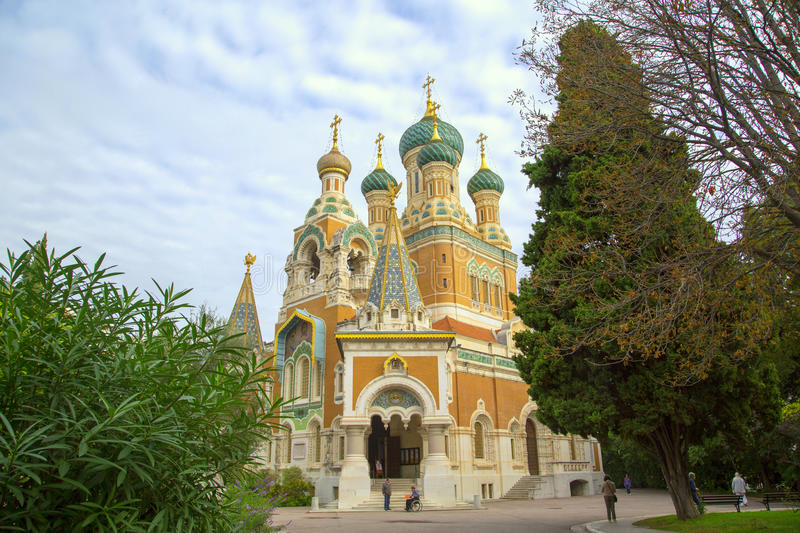 Russian Church In Nice Stock Photo