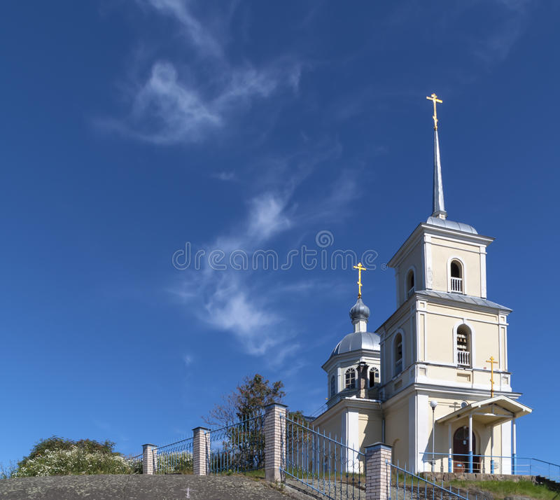 Download Russian church on the rock stock image. Image of religion - 32917881
