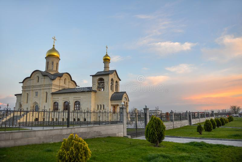 Russian church in Yerevan city royalty free stock photo