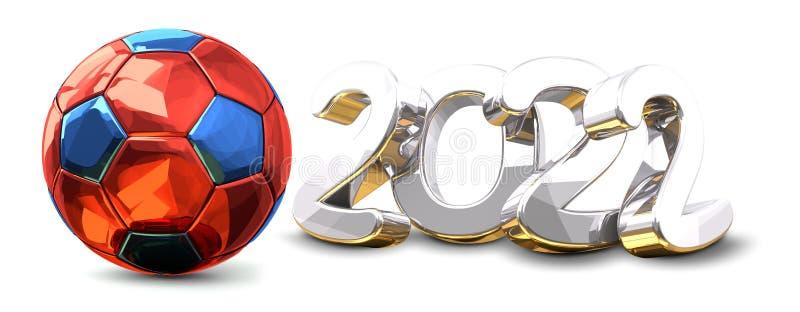 Russian colored 3d rendering symbol 2022 vector illustration