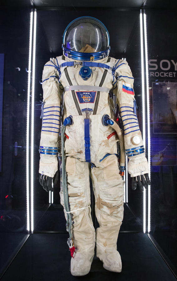 Russian cosmonaut - space suit royalty free stock photos