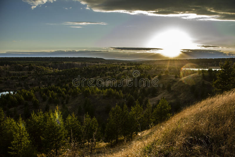 Download Russian countryside sunset stock image. Image of non - 28369149