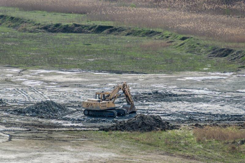 Russian crawler excavator ВЭКС-30L royalty free stock photos
