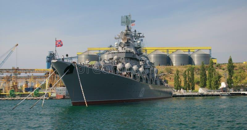Russian Cruiser Moskva Royalty Free Stock Photos