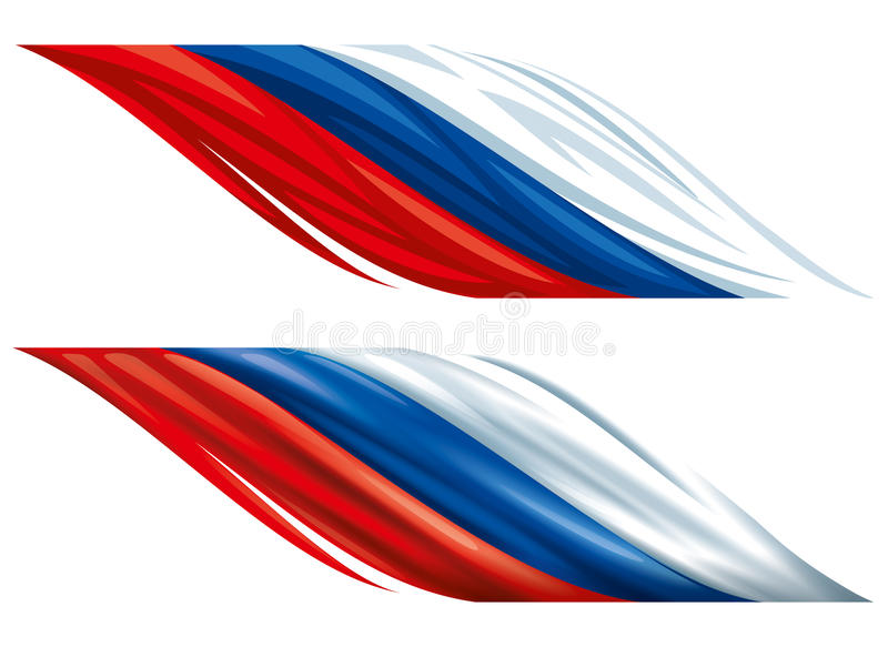Russian decorative flags stock photography