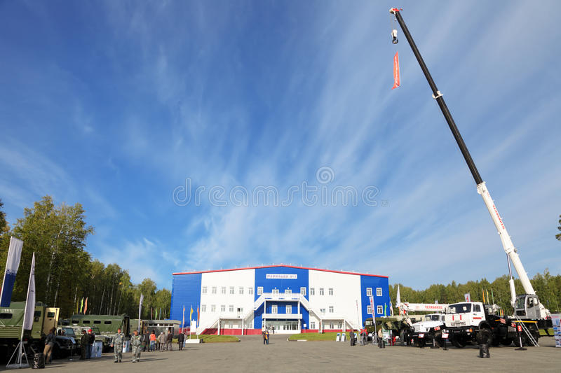 RUSSIAN DEFENCE EXPO 2012 royalty free stock images