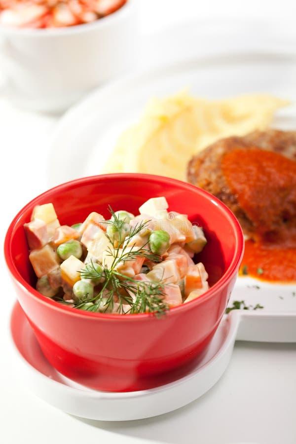 Russian Dinner stock image