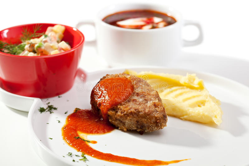 Russian Dinner royalty free stock images