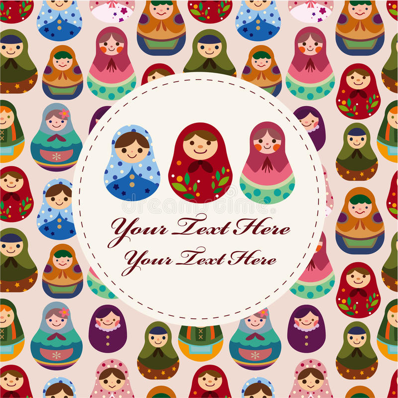 Download Russian doll card stock vector. Illustration of doll - 17634847