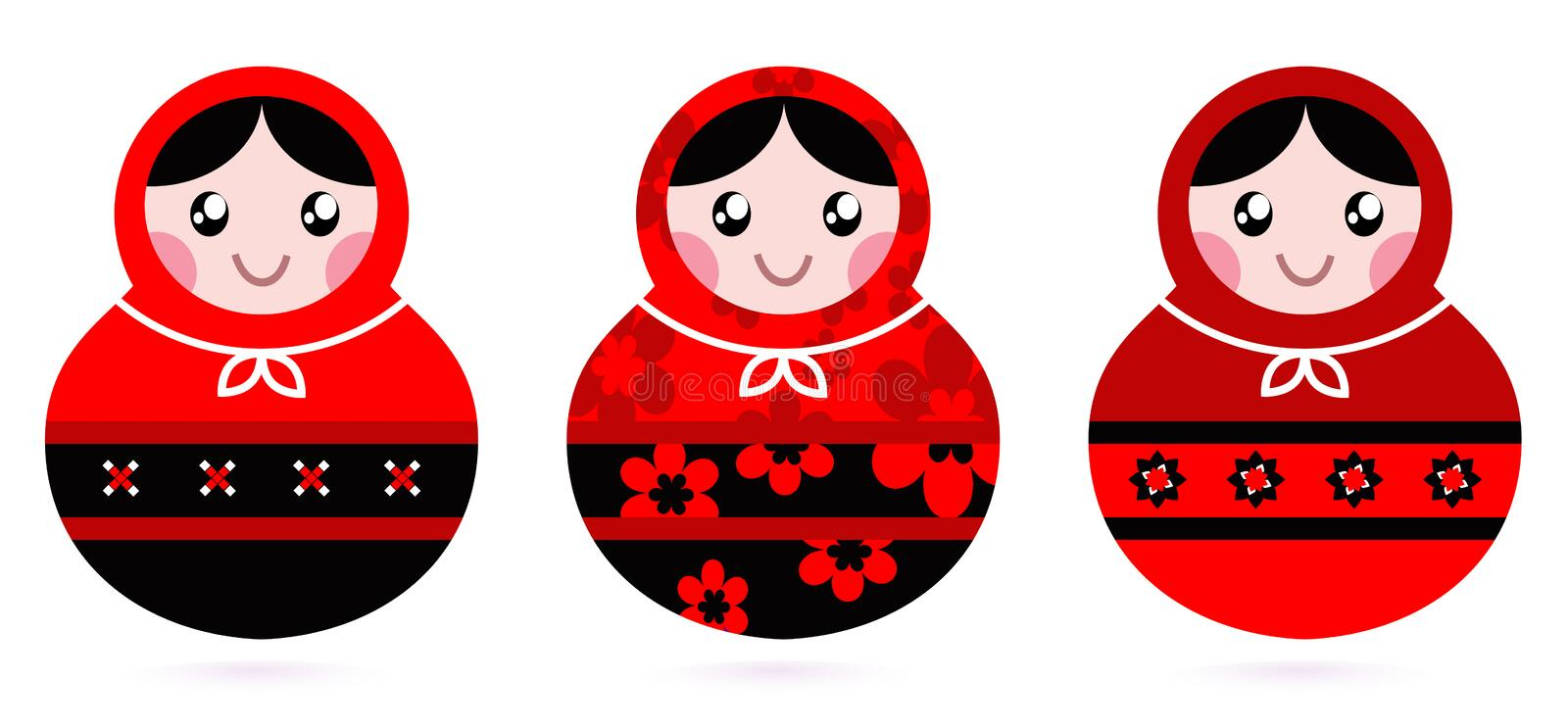 Download Russian doll set stock vector. Illustration of craft - 23393521