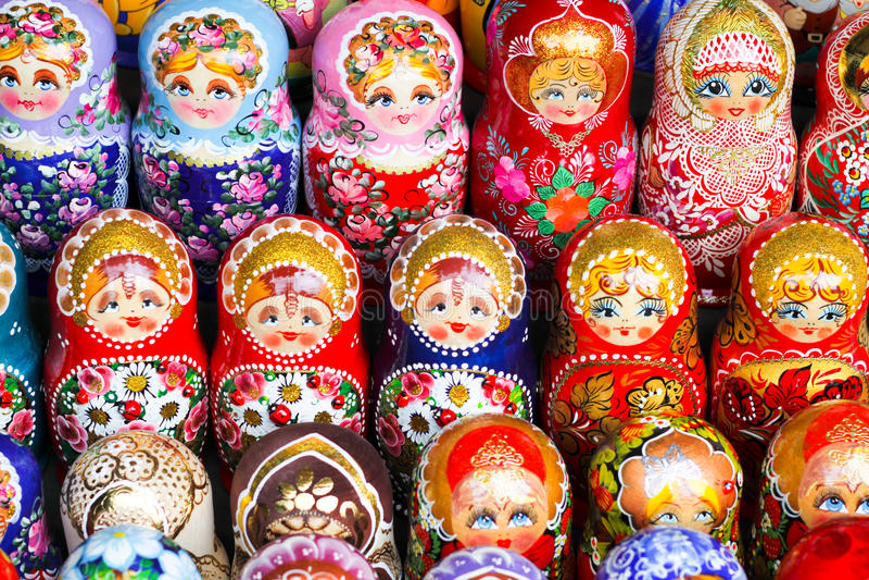 Download Russian dolls stock image. Image of green, handicraft - 16116793