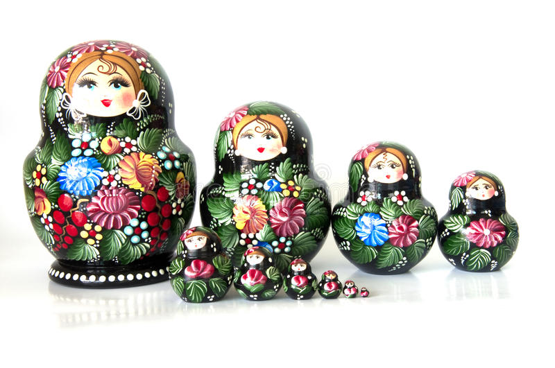 Russian Dolls royalty free stock images