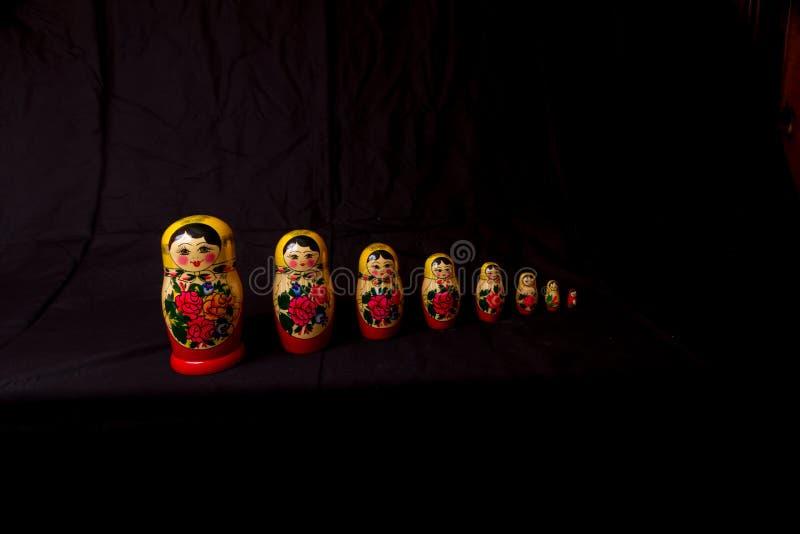 Download Russian Dolls Matryoshka In Low Light Stock Photo - Image of nobody, grandmother: 70632240