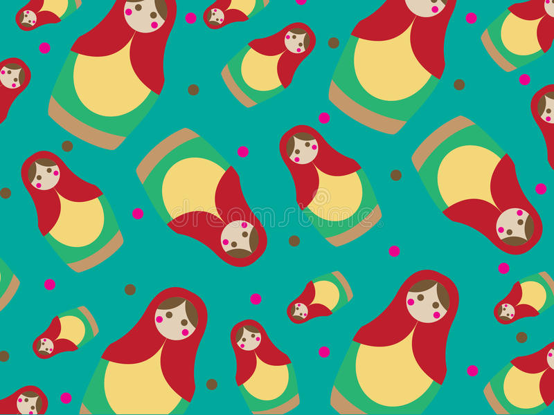 Russian dolls pattern stock photos