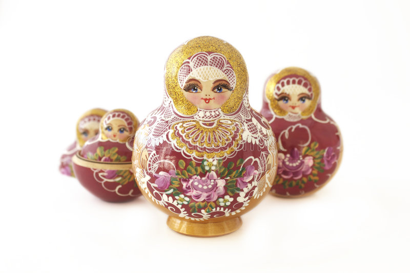 Russian Dolls in a v-shape