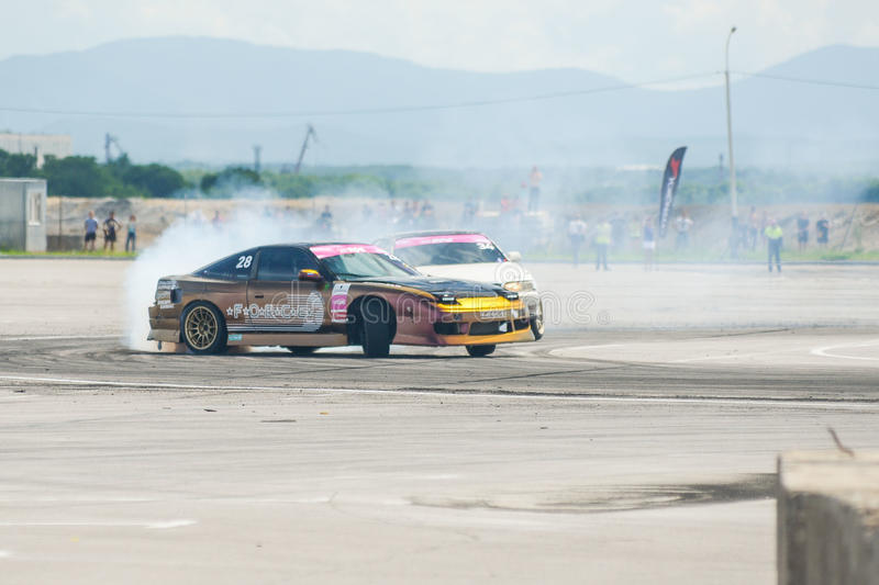 Russian Drift Series Stage 4 royalty free stock image